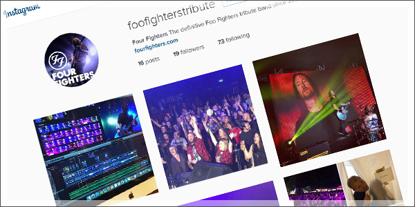 Foo Fighters tribute band Instagram